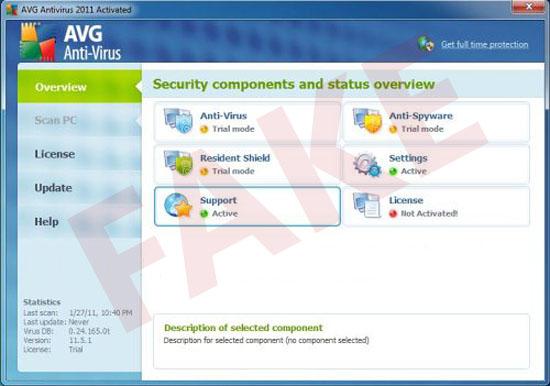 AVG Antivirus 2011 rogue