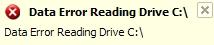 Data error reading drive C