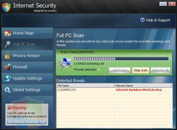 Internet Security virus