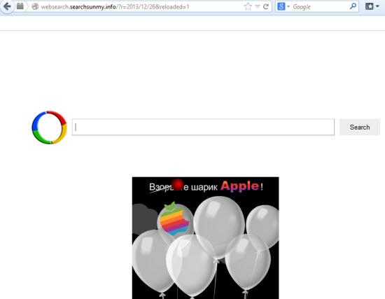 websearch.searchsunmy.info browser hijacker