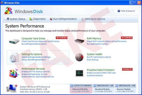 Windows Disk virus
