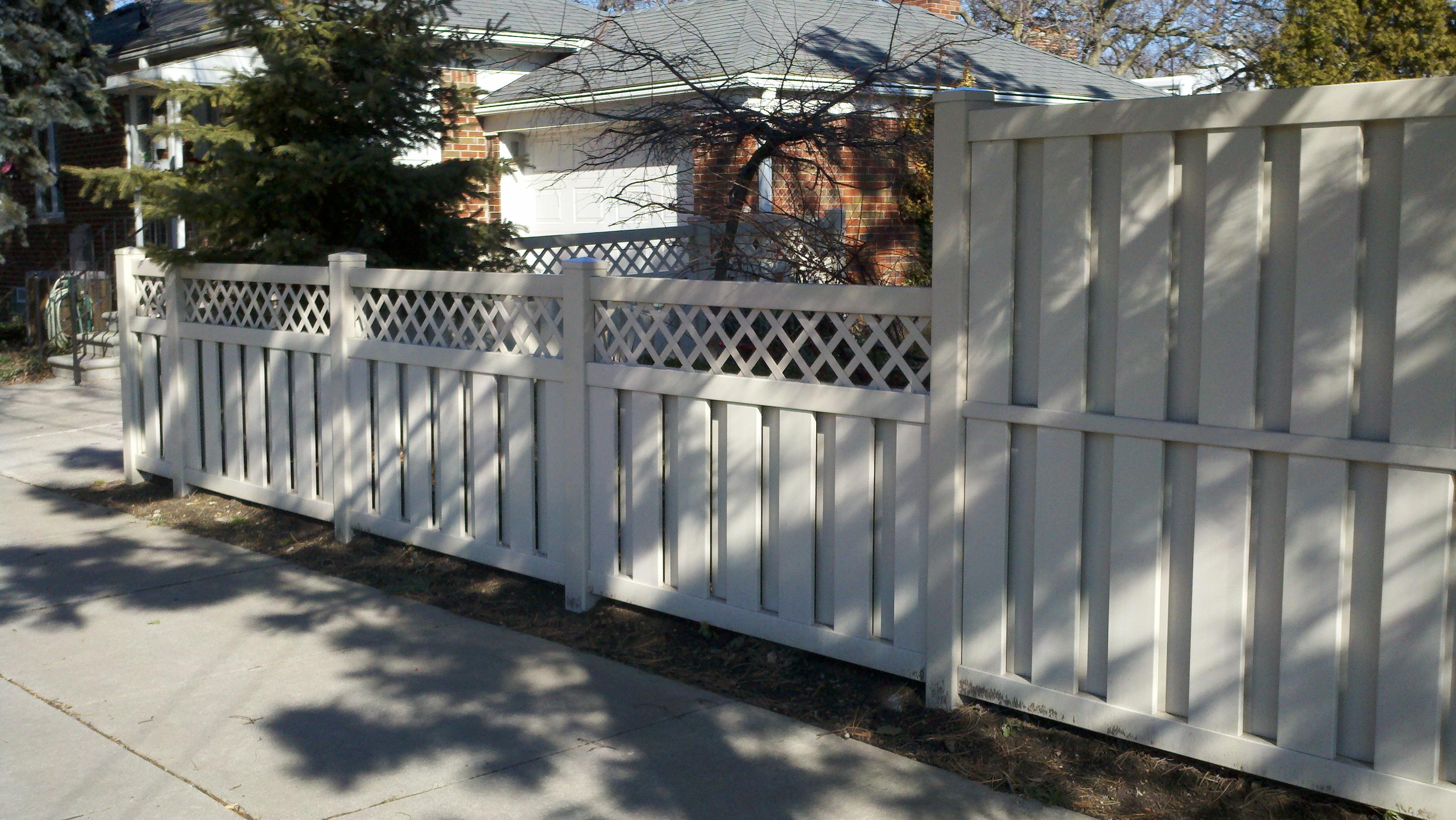 Robust Vinyl Fencing Shadow Box Fence Board Spacing Shadow Box Fence Brackets Tan Vinyl Shadow Box Fence Flat Cap Posts Pvc Lattice houzz-03 Shadow Box Fence