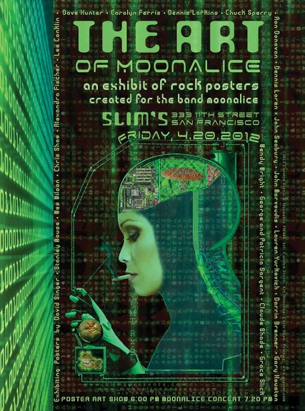 The Art of Moonalice poster show graphic by Carolyn Ferris