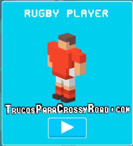 como desbloquear a rugby player crossy road