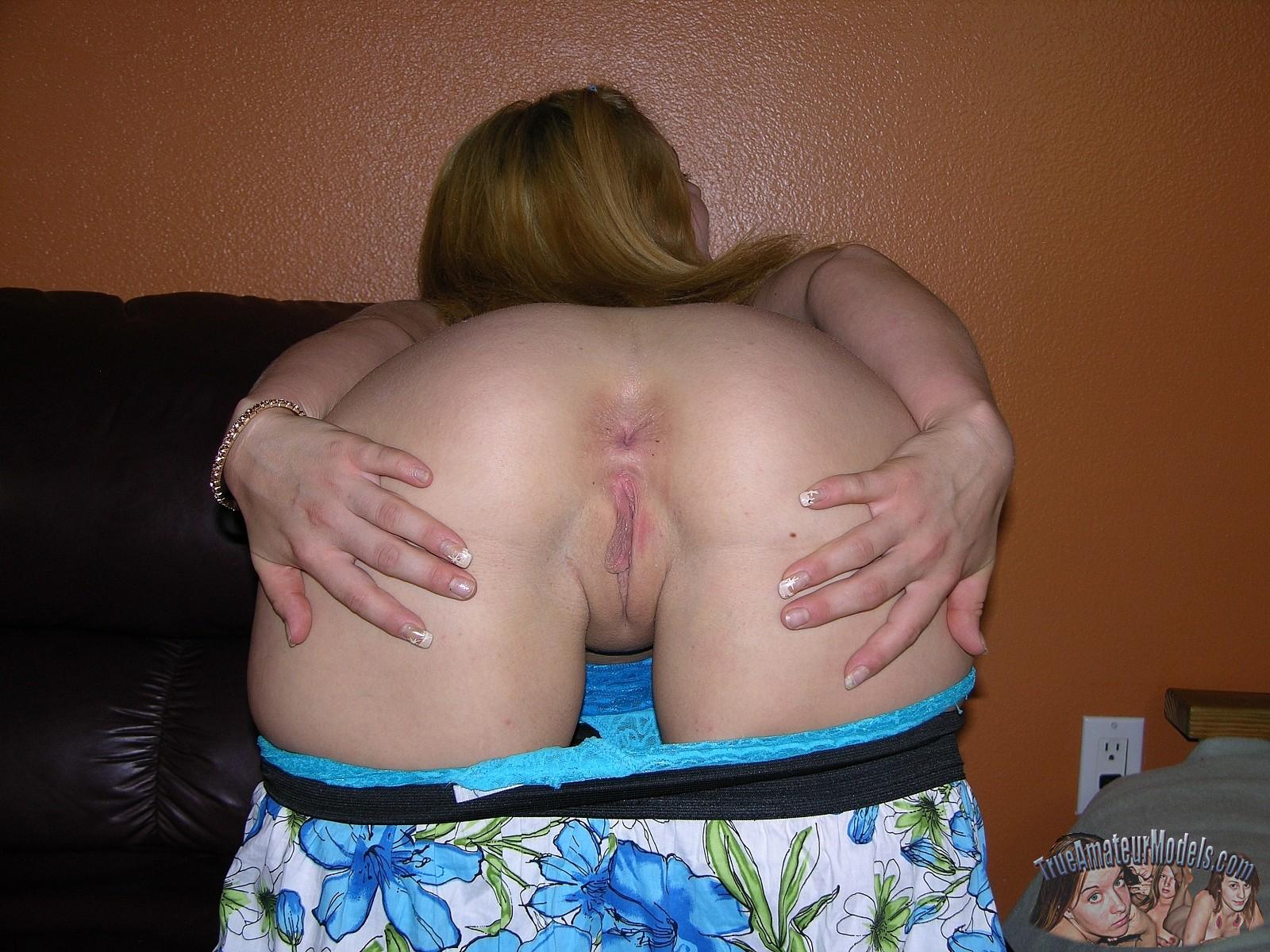 mooning spread ass cheeks