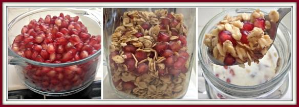 granola and pomegranate