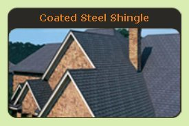 Coated Steel Shingle Metal Roof - Click to See Examples