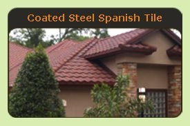 Coated Steel Spanish Tile Metal Roof - Click to See Examples
