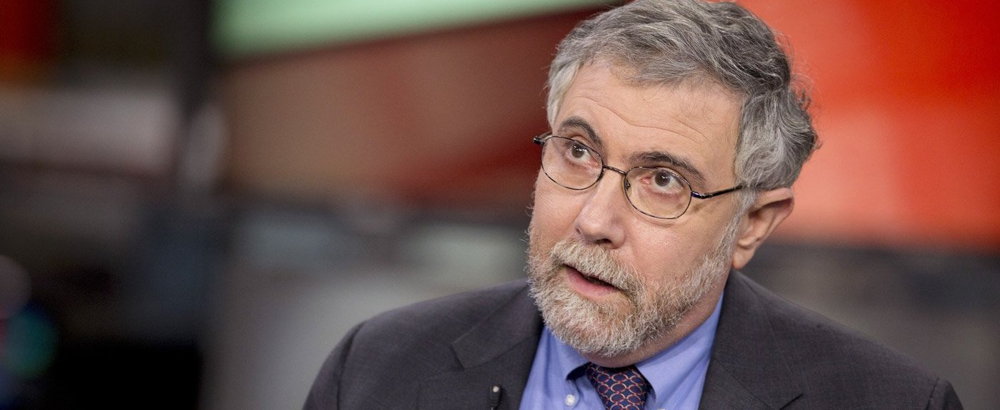 Nobel Prize-winning Economist Paul Krugman, professor of international trade and economics at Princeton University, speaks during a Bloomberg Television interview in New York, U.S., on Monday, Jan. 28, 2013. Krugman discussed the performance of  bonds, Fed monetary policy, and the U.S. economy compared with that of Japan. Photographer: Scott Eells/Bloomberg via Getty Images