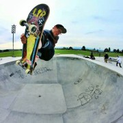 Sky Siljeg boosting a FS air at the beacon hill skatepark in seattle, wa | photo: josh james