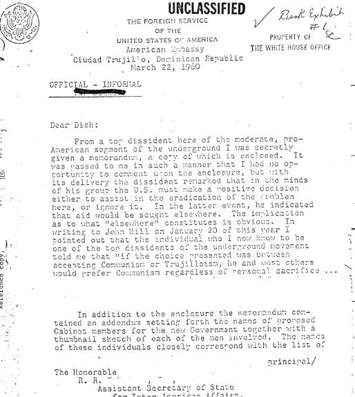 dissidents communist-farland memo 1 edited