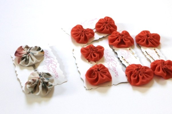 Fabric Flower Bobby Pins Free