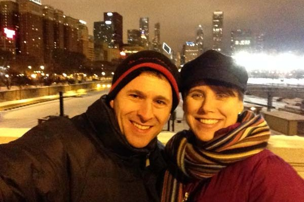 We walked to the L for the trip back to the hotel. Though it was cold, it was a beautiful walk through Grant Park. I heart you, Chicago.