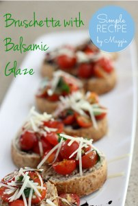 Bruschetta with Balsamic Glaze