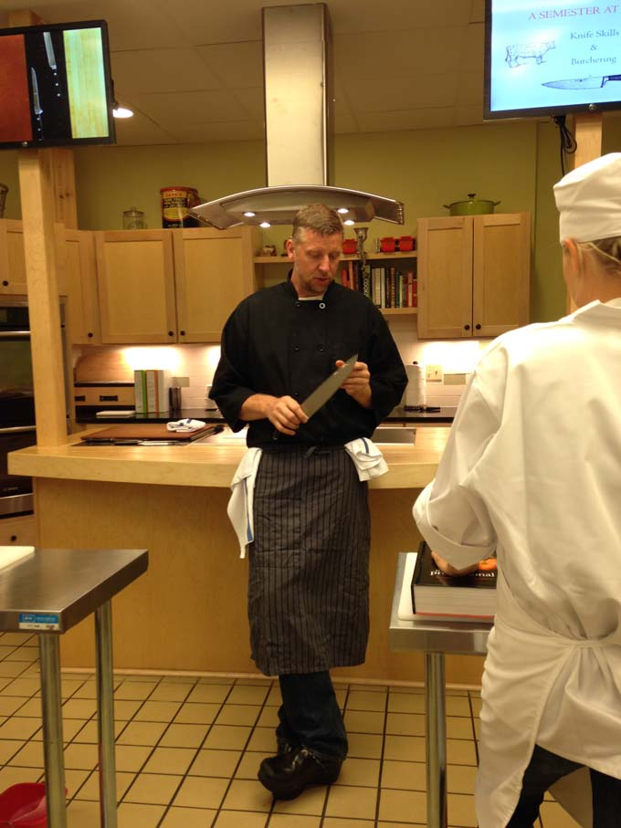 Chef Dave Swanson Teaching at Braise Milwaukee