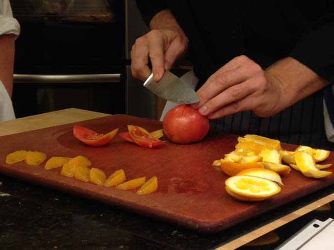 Classic Way to Cut Tomato and Citrus