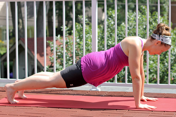 Yoga Plank for Postnatal Women