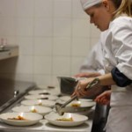 Plating the Farro Salad