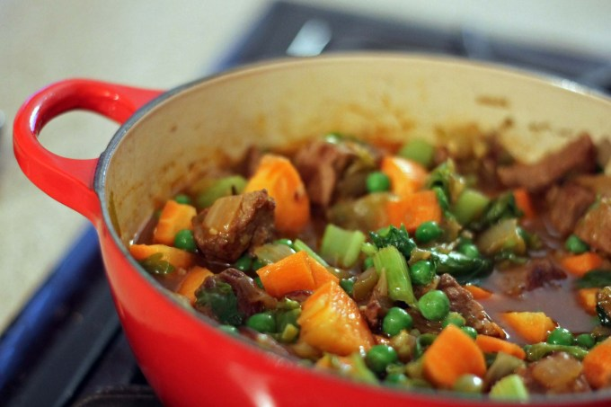 My recipe for healthy beef stew includes loads of veggies and beef that you could cut with a spoon!