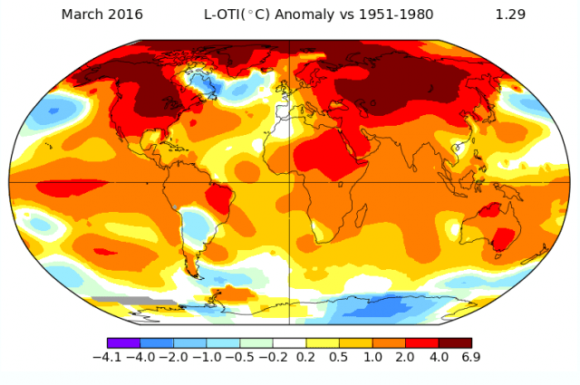 Climat climatique record mars2016 mars nasa réchauffement cop21 écologie planète