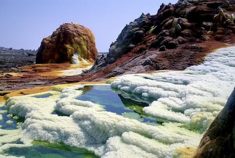 Dallol volcan éthiopie chaleur température extrême