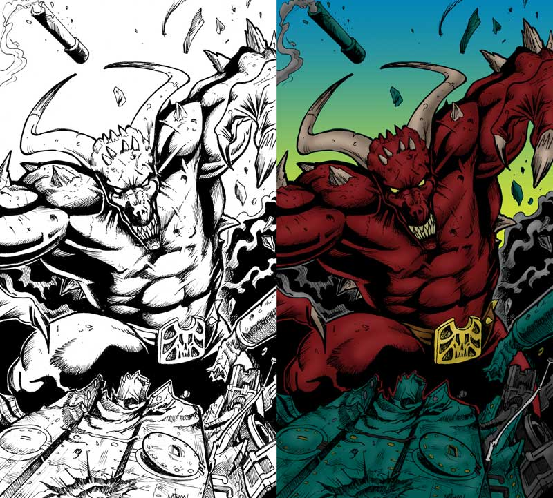 Steven Trustrum Digital Colouring Armageddon Demon