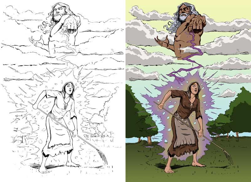 Steven Trustrum Digital Colouring Adequate Commoner Deity