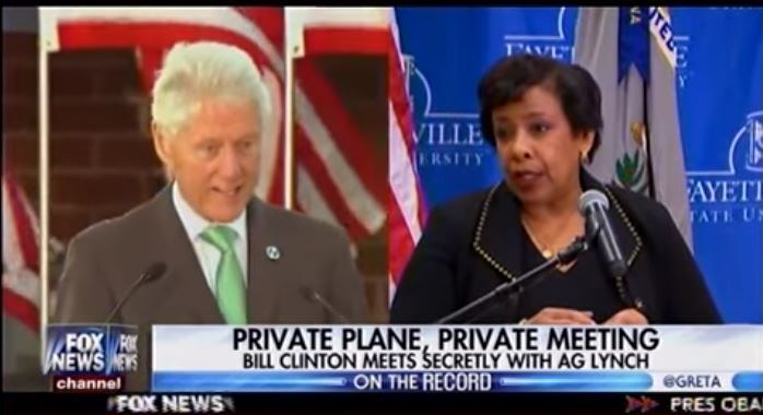 BUSTED: Private Plane, Private Meeting: Bill Clinton Meets Secretly With Loretta Lynch (Video)