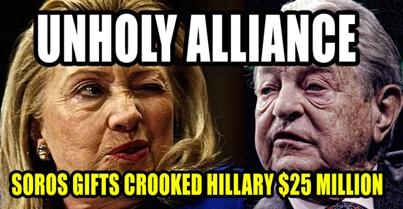 Image result for soros donations to hillary campaign