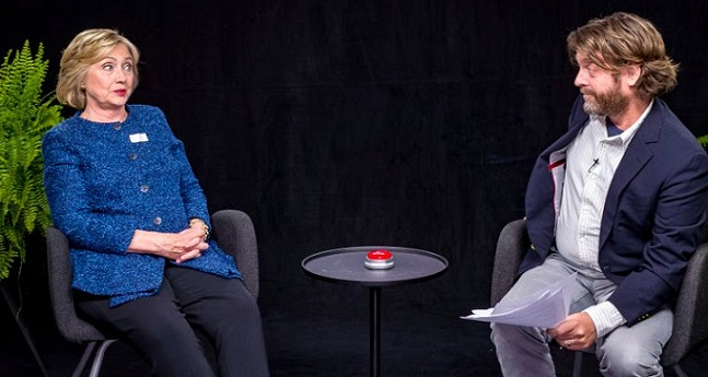 'What's The Best Way To Reach You? Email?': Galifianakis Quizzes Hillary (Video)
