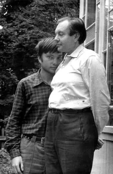 В. А. Успенский с сыном. 1978 год