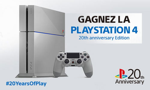 TNP ps4concours header 500x300 BON PLAN   Comment gagner une PS4 20th Anniversary ?