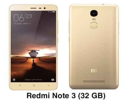 Redmi Note 3 amazon (32 GB Snapgragon 650 Chipset)