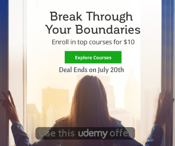 Udemy $10 sale july 2017