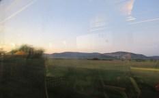 ルーマニアの朝の車窓