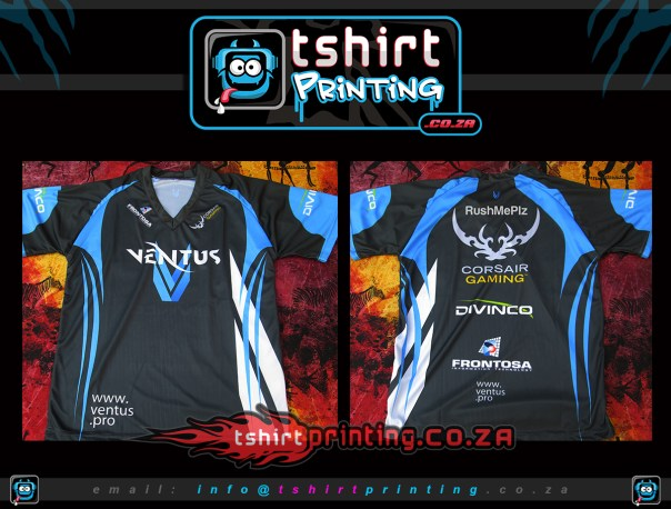 ventus-gaming shirts printed by tshirtprinting.co.za South Africa