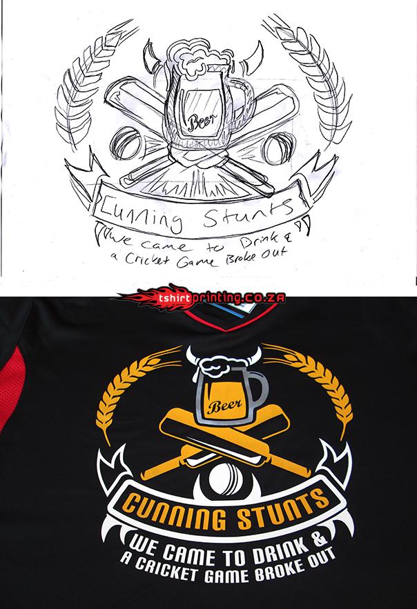 Cricket team logo design for Team t shirt printing