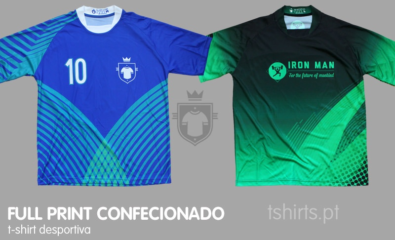 T-shirt desportiva full print confecionada