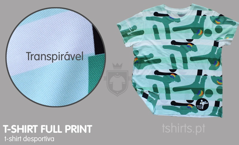 T-shirt desportiva full print