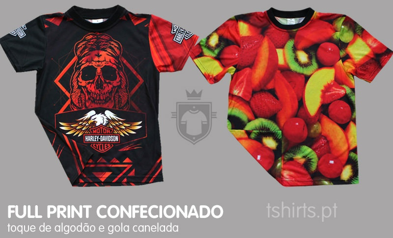 T-shirt full print confecionada