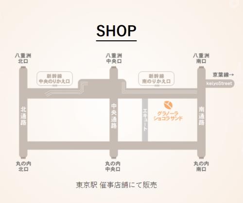 guranora 500x418 東京駅限定お土産!おすすめはグラノーラショコラサンド☆銀のぶどう