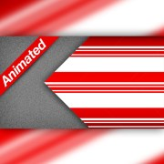 Video Transition Left Candy Cane