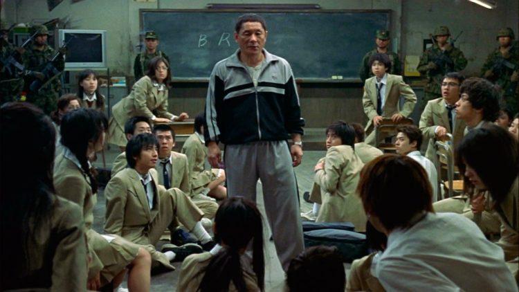 Takeshi Kitano in dystopian film Battle Royale