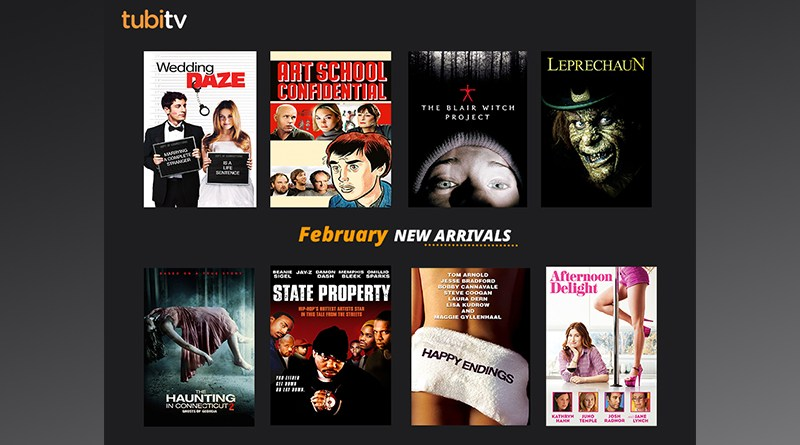 Tubi February Free Movies Arrivals