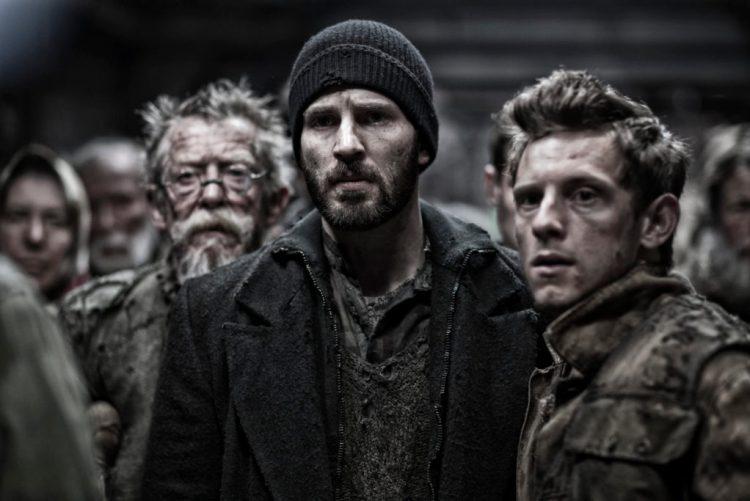 Chris Evans, John Hurt, and Jamie Bell, Snowpiercer