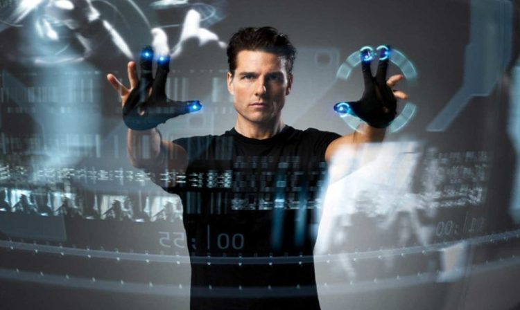 Tom Cruise in dystopian film Minority Report