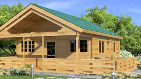 Una casa de madera prefabricada por un precio muy barato - Casas economicas de madera ...