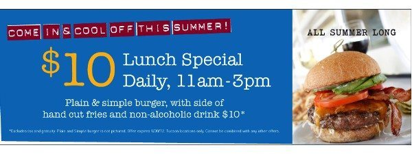 zen burger 10 tucson $10 Lunch Special at Zinburger
