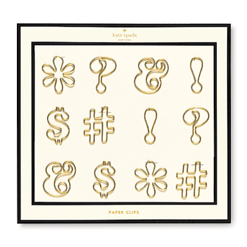 tuenight office kate spade paper clips