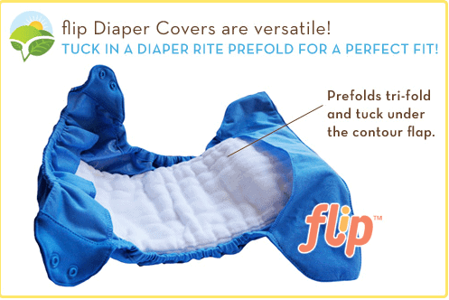 flip diaper covers with prefolds